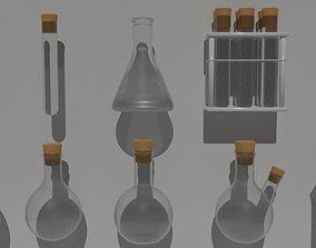 PBR Labkit flasks 3D model