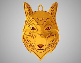 Wolf Necklace animal 3D printable model