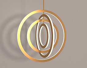Halo Chandelier Roll and Hill 3D model