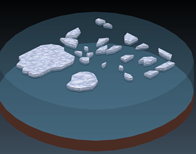 Frozen Islands Ice Pack 3D asset