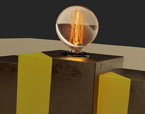 Desk Lamp lightbulb 3D