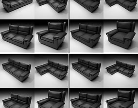 3D model Couches - 2 - All Materials all classes