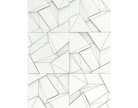 3D Cracked Metal Wall Panel