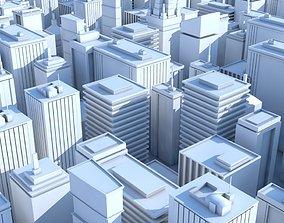 realtime 19 Low Poly Buildings 3D Models