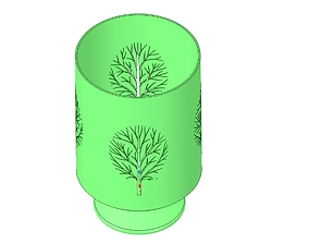 nature style vase cup vessel v52 for 3d-print or cnc