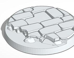 Round Broken Cobblestone Bases 3D print model