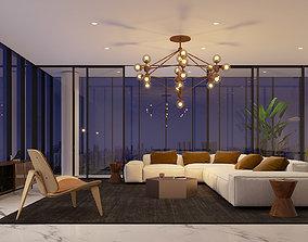 Apartment interior 3D window