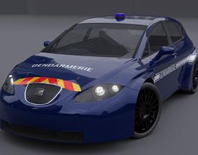 Gendarmerie Police Seat Leon 3D asset
