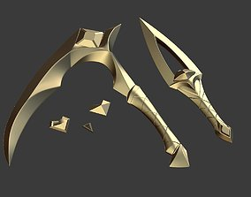 K DA Akali prop weapons LOL league of 3D printable model