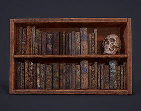 Medieval Books and Skull 3D