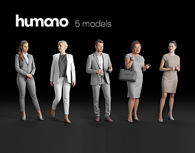 Humano 5-Pack - PEOPLE - TALKING - GROUP - 5x 3D models 1