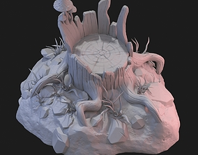 3D model Fantasy stump