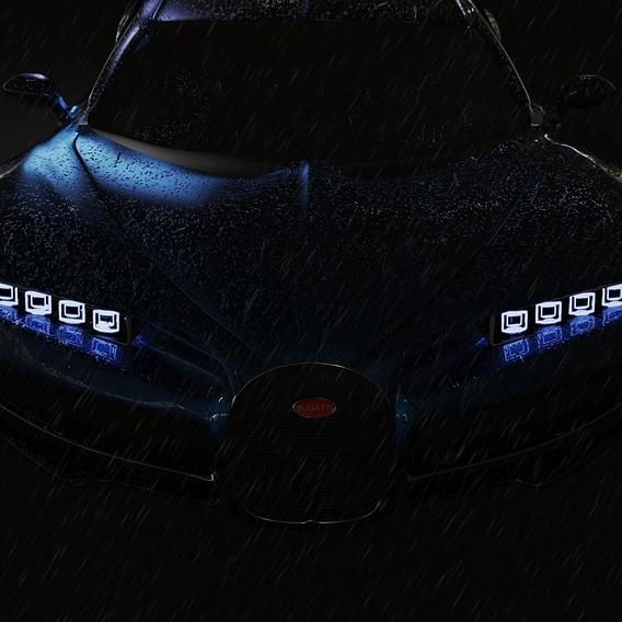 Bugatti Chiron in Rain