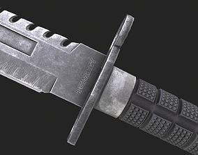Bayonet M9 3D model VR / AR ready
