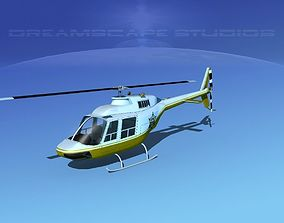 Bell 206 Sheriff Department 3D model animated
