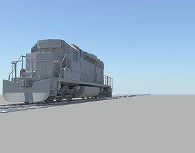 locomotive train 3D model