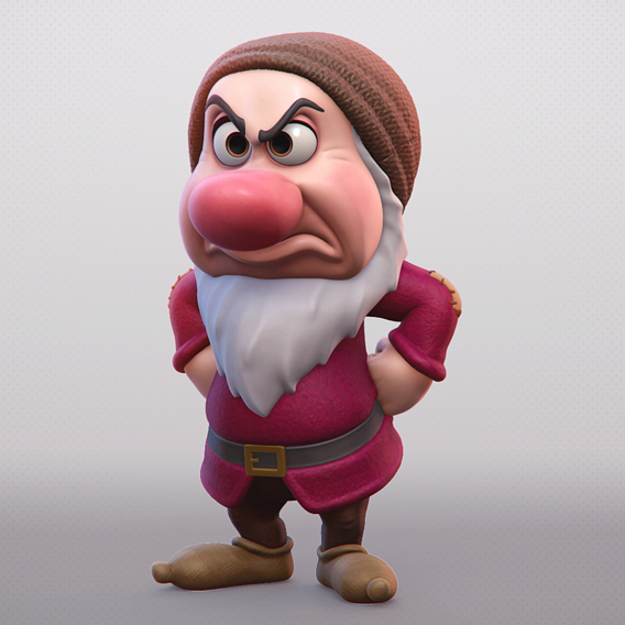 Grumpy - One of the seven Dwarfs