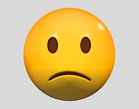 simbol Emoji Slightly Frowning Face 3D