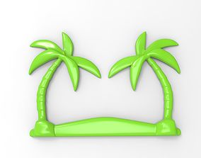 Printable Palm Tree Relief
