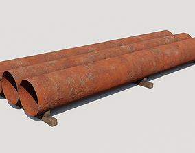 Steel tubes 3D model
