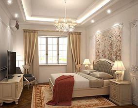 Neo classical bedroom 3D model