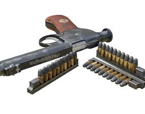 Roth Steyr 1907 M7 gun with magazine 3D model