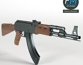 AK47 Kalashnikov Assault Rifle 3D model