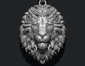 Lion pendant closed mouth tiger 3D print model