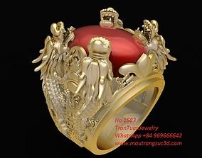 3D print model 1583 Lucky Dragon Ring