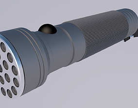 led flashlight 3D model