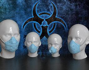 3D model Medical mask set