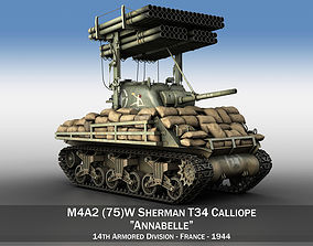 3D model M4A3 Calliope Annabell launcher