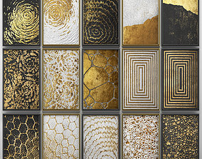 3D model Collection of paintings with gold for walls 5