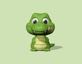 A cute Alligator to decorate and 3D printable model