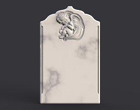 Baby angel tombstone 3D print model