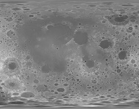 3D 92k Moon Displacement Map