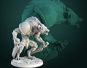 Gnoll Swordmaster pre-supported 3D print model