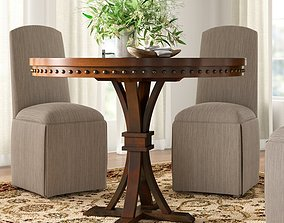 Jared Counter Height Pedestal Dining Table 3D