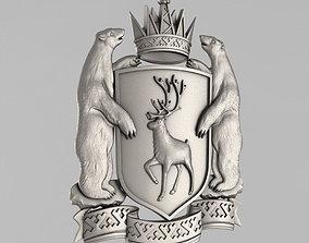 The emblem of Yamalo-Nenets Autonomous 3D printable model