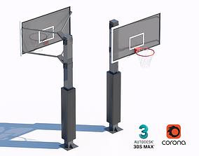 court basketball hoop 3D model