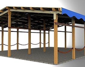3D print model Big Wooden Terrace for restaurant