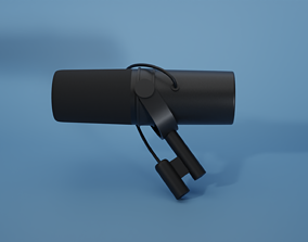 3D model Shure SM7B cool Microphone