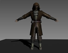 Ninja warrior 3D model animated