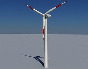 3D model Wind Turbine Land Realtime