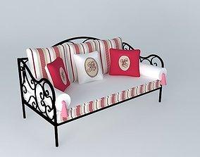 2 seater bench NINON Maisons du monde 3D