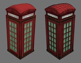 3D asset English telephone booth