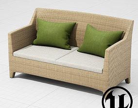 3D asset Dedon Barcelona 2 Seater UE4