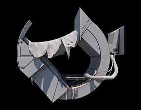 Syd Mead futuristic vehicle 3D asset