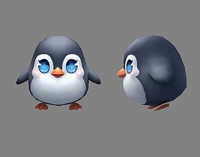 Cartoon baby penguin - male - lovely 3D asset