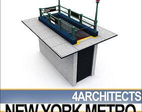 3D model New York Subway Metro Entrance A